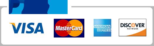 Paypal, Visa, MasterCard, American Express, Discover Network